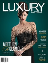Luxury Las Vegas - September 2013 :: A Return to Glamour (cover) jenna doughton